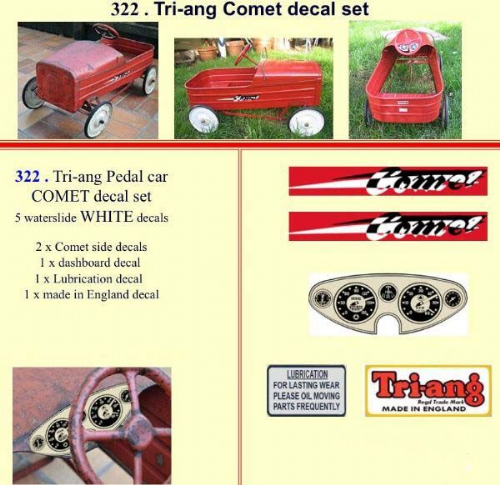 322 Tri-ang Comet decal set